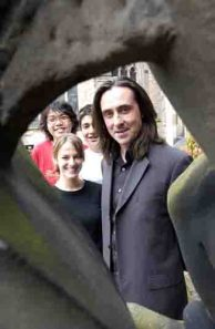 Neil Oliver being showy at the University of Aberdeen