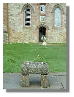 The replica Stone of Scone at Scone Palace