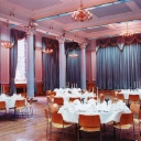 The Great Hall in King's College London, arrayed for another occasion