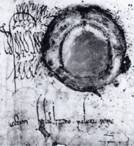 Detail of a charter of Louis the German of 841 showing his signature and seal, from Wikimedia Commons