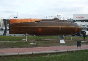 Replica of Ictineo II, first successful submarine