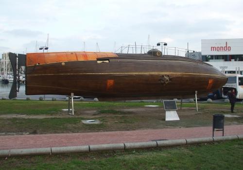 Replica of Ictineo II, first successful submarine