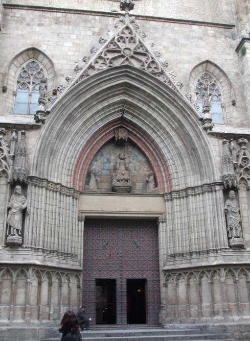 The portal of Santa Maria del Mar, Barcelona