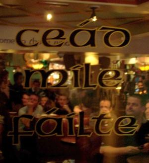 Faulty Gaelic at an O'Neills Irish Pub (tm)