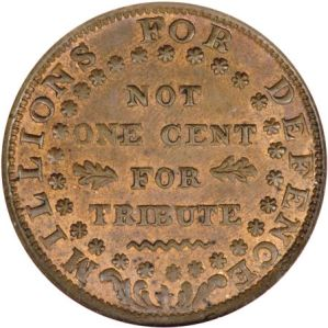 Copper 'Hard Times' Token of Daniel Webster, 1841, from the Alan S. Fisher Collection