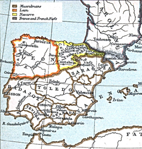 Map of the Kingdom of León in 1030