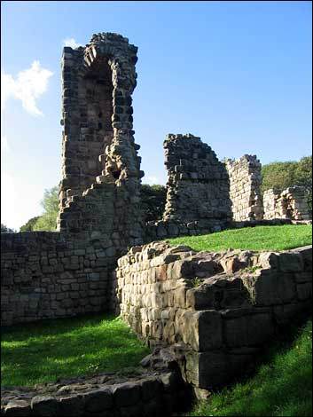 Ruins of St Paul's Jarrow as they stand today (hidden grave of ungodly carpenter not shown)
