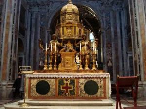 The Sistine Chapel altar in Santa Maria Maggiore, Rome, c.1590