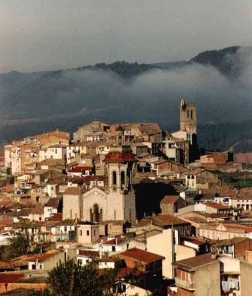 Churches in Artés, Manresa, seen from above, from Wikimedia Commons