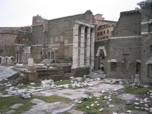 Ruins in the Foro di Nerva, Rome