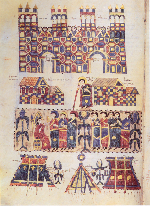 Imagination of Visigothic Toledo during a Church council by Velasco of San Millán, c.976