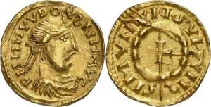 Frisian imitation of a gold solidus of Louis the Pious, probably 830X50
