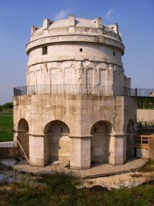 The Mausoleum of Theodoric in Ravenna, one of the establishments local sources consider a 'monastery', from Wikimedia Commons
