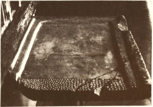 Altar slab from the pre-monastic church of Sant Pere de Casserres