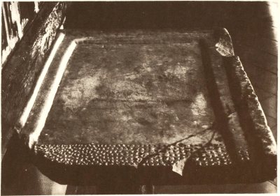 The altar slab from the pre-monastic church of Sant Pere de Casserres