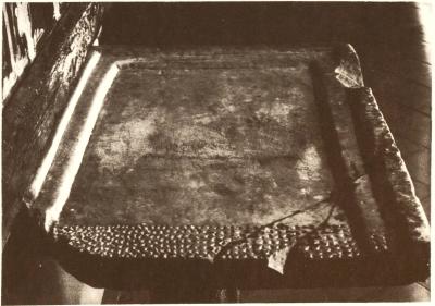 The altar slab from the pre-monastic church of Sant Pere de Casserres