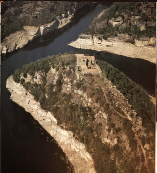 Sant Pere de Casserres viewed from the air