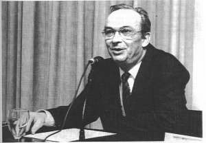 Professeur Pierre Bonnassie at the Universitat Autonòma de Barcelona, 1993