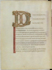 Psalter of St-Denis, also known as the Psalter of Charles the Bald, Paris BN Lat. 1152, fo 6v.