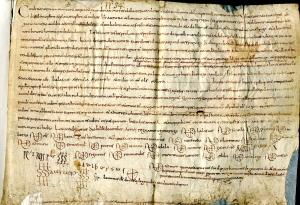 Arxiu de l'Abadia de Sant Joan de les Abadesses, volum de pergamins dels segles X-XI, fol. 35
