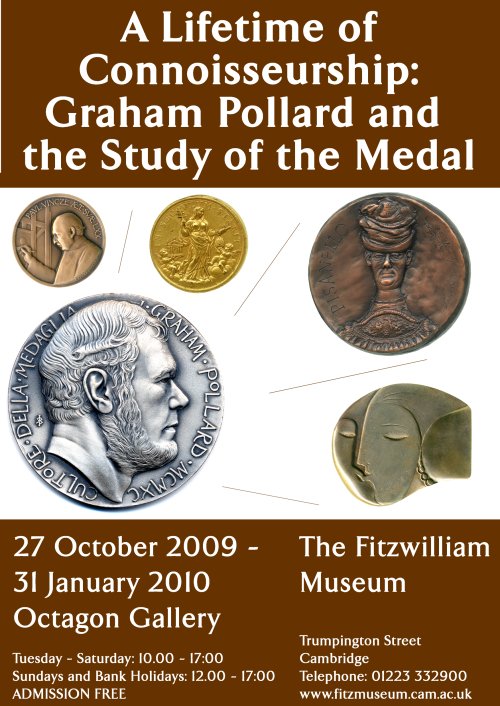 Unused exhibition poster design for A Lifetime of Connoisseurship: Graham Pollard and the Study of the Medal