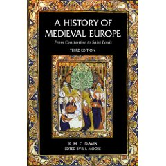 Cover of Ralph Davis's History of Medieval Europe