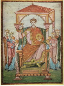 Manuscript portrait of Emperor Otto I the Great
