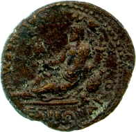 Bronze of Smyrna, 75X76 AD, for Emperors Titus and Domitian by Marcus Vettianus Bolanos