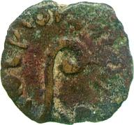Bronze of Judaea by Pontius Pilate under Tiberius, 30 AD, Corpus Christi College, Lewis Collection, CM.LS.1918-R