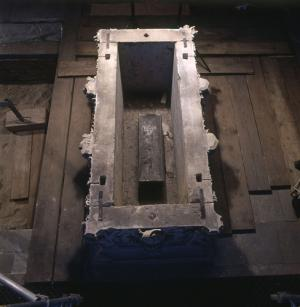 The sarcophagus from Magdeburg Cathedral that bears the name of Queen Eadgyth