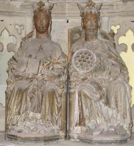 Sculpture of Emperor Otto the Great and his queen Eadgyth in Magdeburg Cathedral