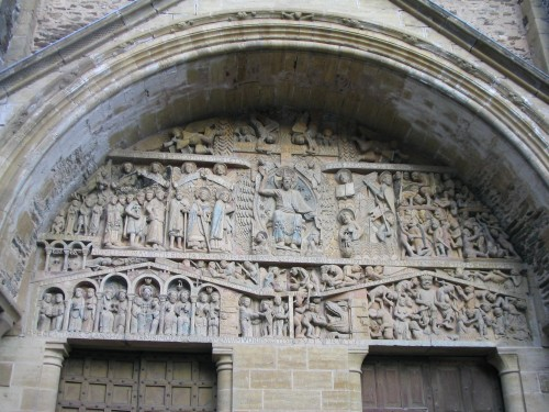 Typanum of the church of Sainte-Foy de Conques