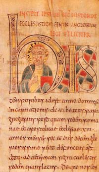 Portrait of St Augustine from the St Petersburg manuscript of Bede's Ecclesiastical History