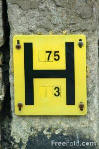 British fire hydrant marker