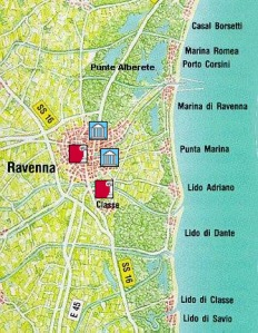 Archaeological map of the Ravenna area