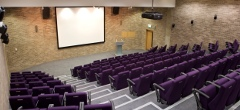 The Riley Auditorium in the Gillespie Centre, Clare College, Cambridge