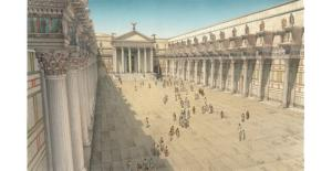 Reconstruction of the Forum of Nerva as constructed (in the reign of Nerva)