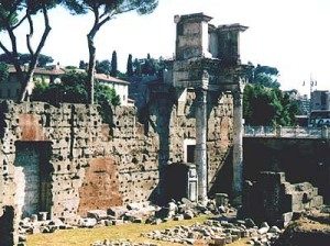 The current state of the Forum of Nerva, partly reconstructed