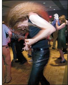 Simon Trafford at the Saturday dance at Kalamazoo in some year past