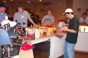 The counter of Mug Shots Coffeehouse, Western Michigan University