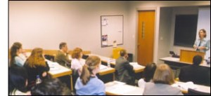A Kalamazoo session in a room in the Fetzer Center