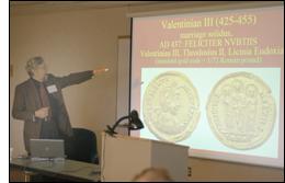 Ralph Mathisen presenting an earlier Kalamazoo paper