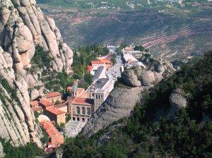 Aerial view of Santa Maria de Montserrat