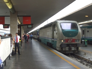 Paris-Rome sleeper train, arrived in Florence