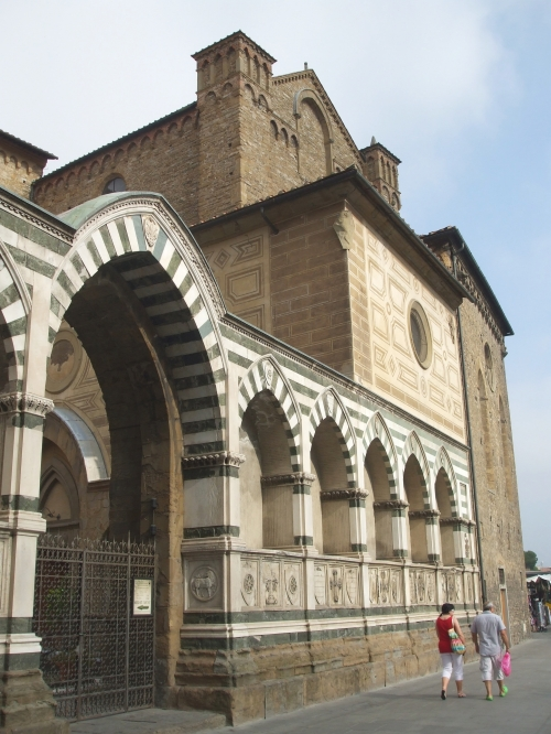 Entrance to the cloister of Santa Maria de Novella, Florence