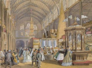 International exhibition watercolour by Joseph Nash