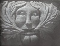 Green Man at Llangwm Church, Monmouthshire
