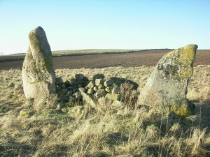 The two standing stones at Nether Corskie