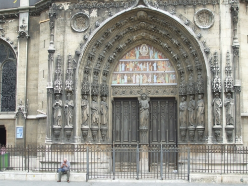 Portal of Saint-Laurent de Paris