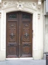 Doors to a building on the Rue du Temple des Filles, Paris